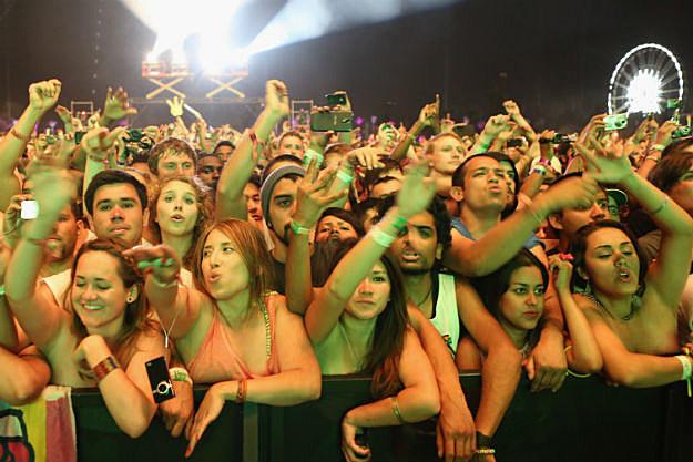 Coachella crowd