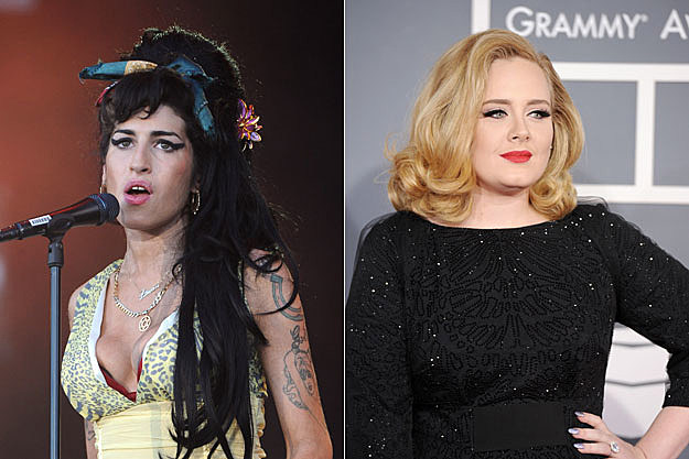 Amy Winehouse and Adele