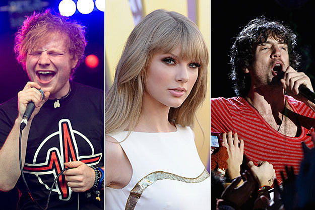 Ed Sheeran, Taylor Swift, and Snow Patrol