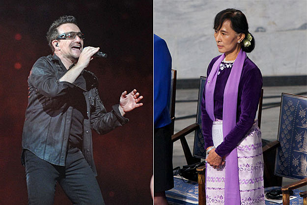 Bono and Suu Kyi