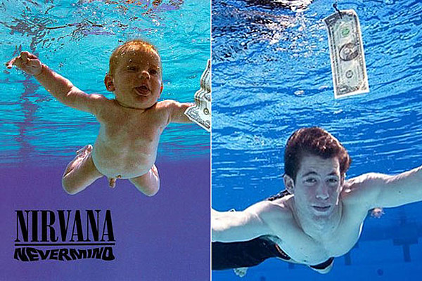 Nirvana Nevermind Album Cover Baby Then And Now