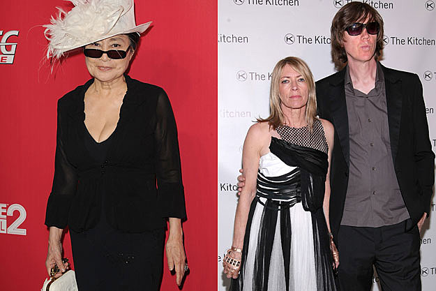 Yoko Ono, Kim Gordon and Thurston Moore