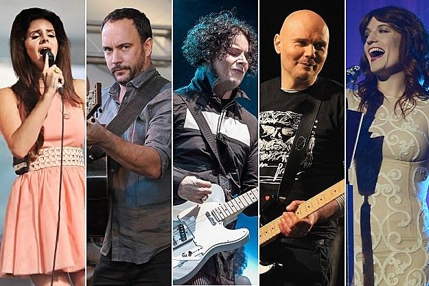 Lana Del Rey, Dave Matthews, Jack White, Billy Corgan, Florence Welch