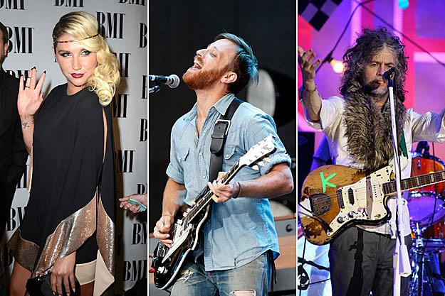 Kesha, Black Keys, and Flaming Lips