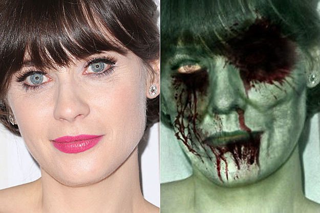 Zooey Deschanel Vs. Zombie Deschanel