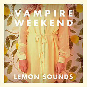 Vampire Weekend Lemon Sounds album art