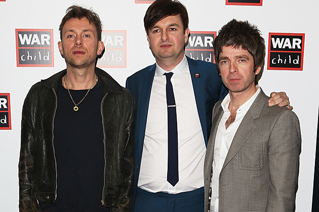 Damon Albarn Noel Gallagher Brit Awards