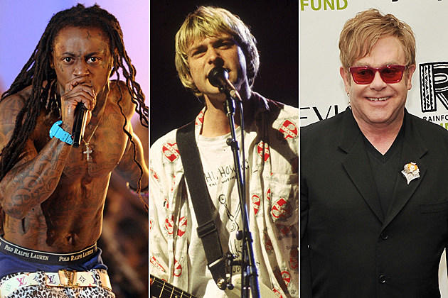 Lil Wayne Kurt Cobain Elton John