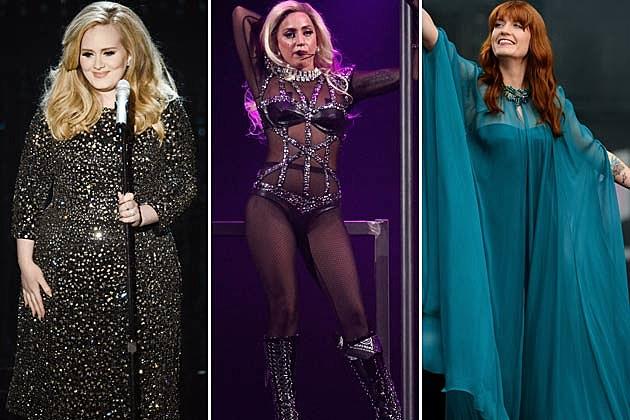 Adele, Lady Gaga, Florence Welch