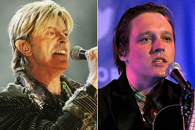 David Bowie and Win Butler of the Arcade Fire