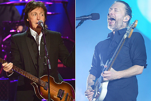 Paul McCartney Thom Yorke