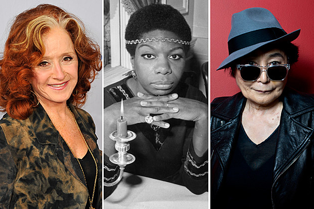 Bonnie Raitt Nina Simone Yoko Ono