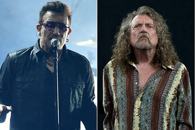 Bono and Robert Plant