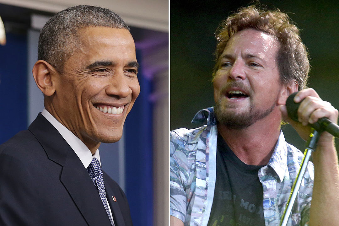 Barack Obama Eddie Vedder