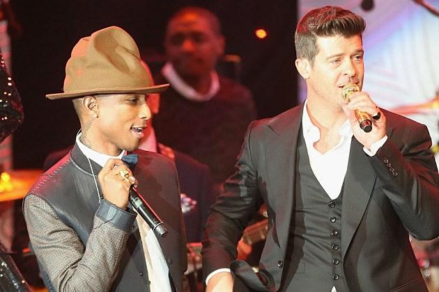 Robin Thicke Pharrell Blurred Lines Marvin Gaye