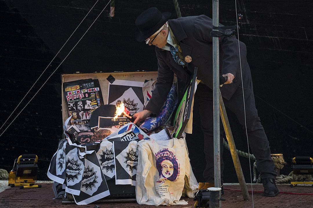 Don't get nostalgic: Punk music memorabilia burned in London