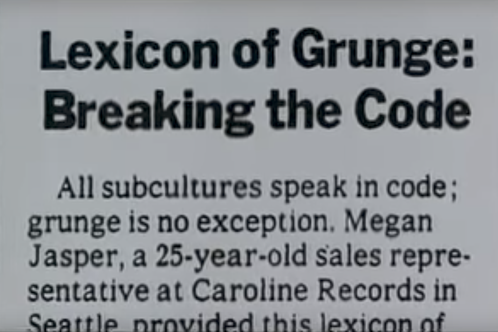 25 Years Ago: \'New York Times\' Falls for the Grunge Speak Hoax